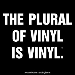 The Plural Of Vinyl